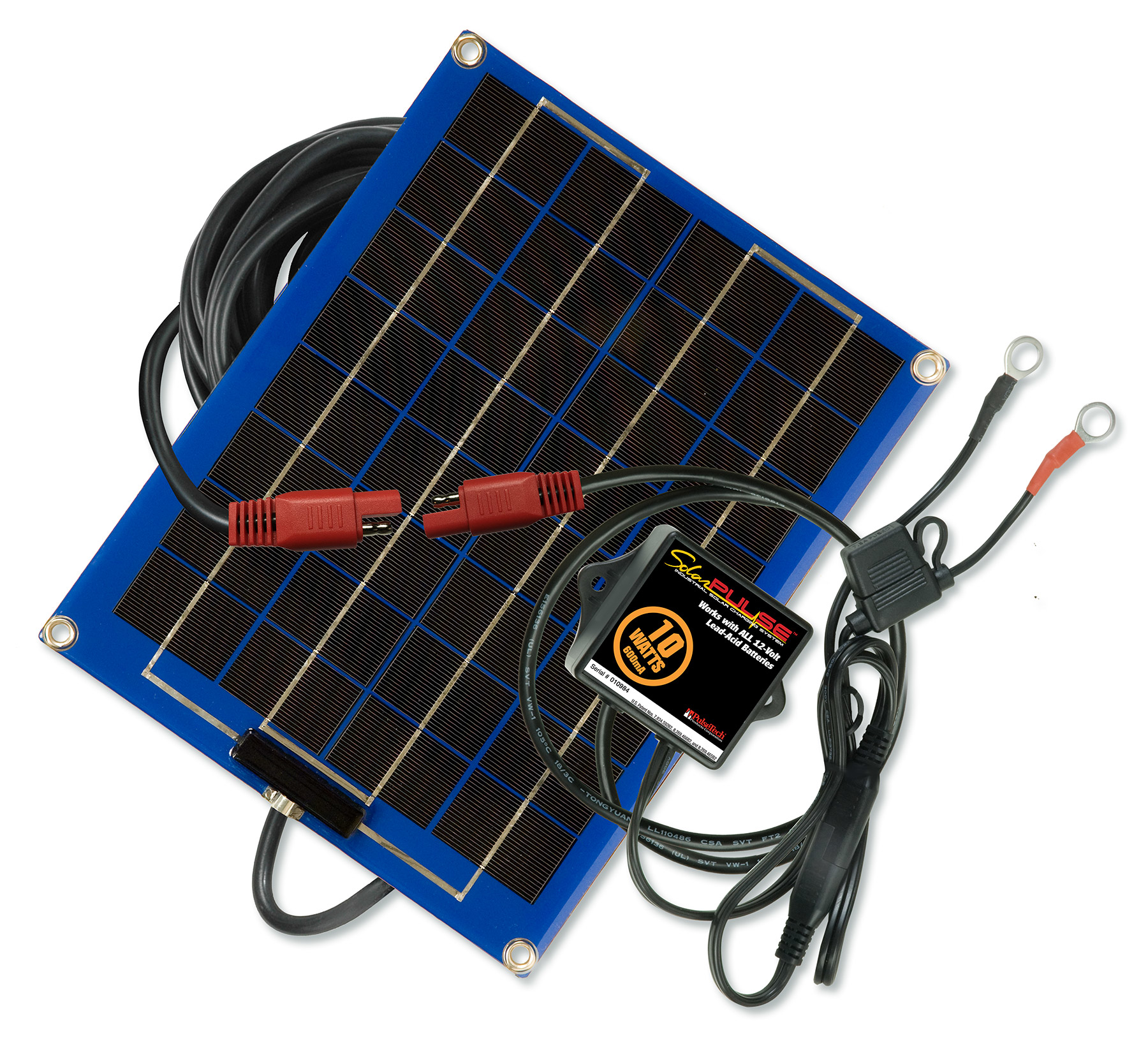 3 Watt Blue PulseTech SolarPulse SP-3 Solar Battery Charger Maintainer